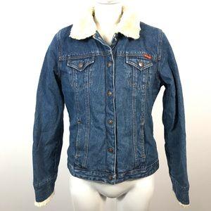 Vintage Roxy denim jacket faux Sherpa Lined
